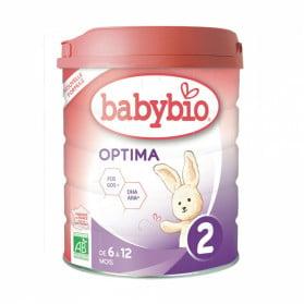 BABYBIO OPTIMA 2ème Age LAIT BIO 800G