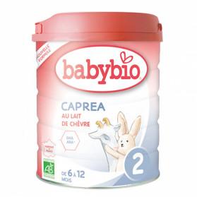 BABYBIO CAPREA 2ème Age 6 à 12 mois LAIT BIO 800G