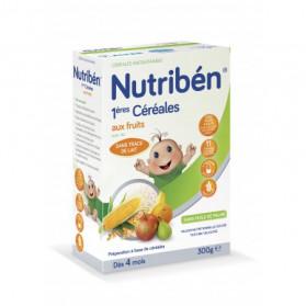 NUTRIBEN Premières Céréales aux Fruits Sans Gluten 300g