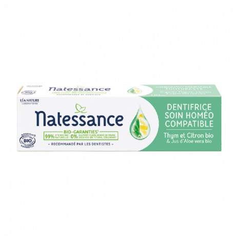 NATESSANCE DENTIFRICE SOIN HOMEO COMPATIBLE 75ML