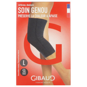 Gibaud Soin Genou Genouillère Chaleur - Taille : Taille L
