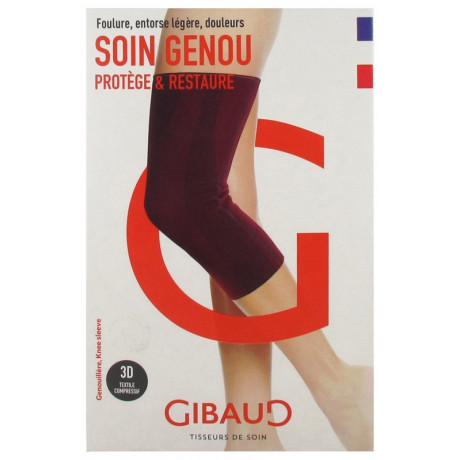 Gibaud Soin Genou Genouillère Rouge - Taille : Taille 2