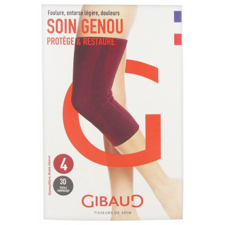 Gibaud Soin Genou Genouillère Rouge - Taille : Taille 4