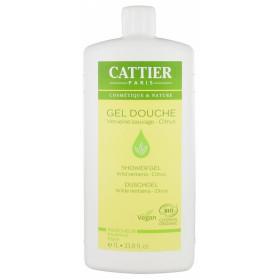 Cattier Gel Douche Verveine Sauvage Citrus Bio 1 L