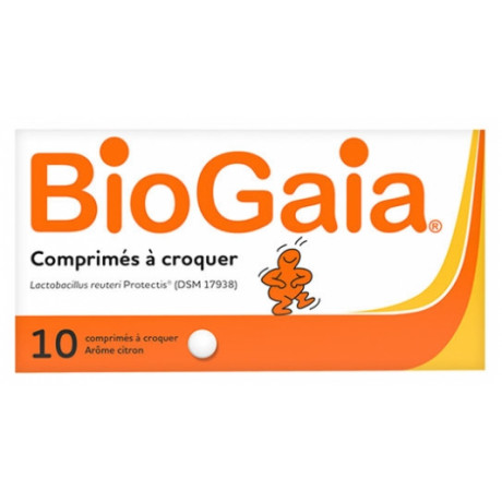 BioGaia Lactobacillus Reuteri ProTectis Citron 10 Comprimés