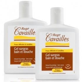 Rogé Cavailles gel surgras bain et douche lot de 2 flacons de 300ml