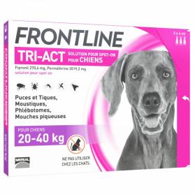 FRONTLINE TRI-ACT SPOT-ON CHIEN DE 20-40KG 3 PIPETTES DE 4ML