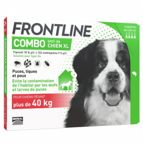 FRONTLINE COMBO CHIEN XL (40-60 KG) 4 PIPETTES