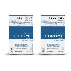 GRANIONS Chrome lot de 2x60 comprimés