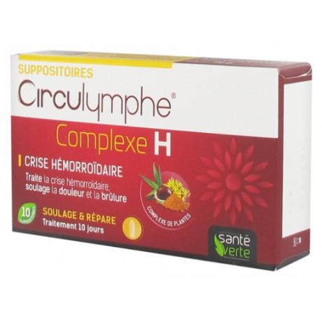 Santé Verte Circulymphe Complexe H 10 Suppositoires
