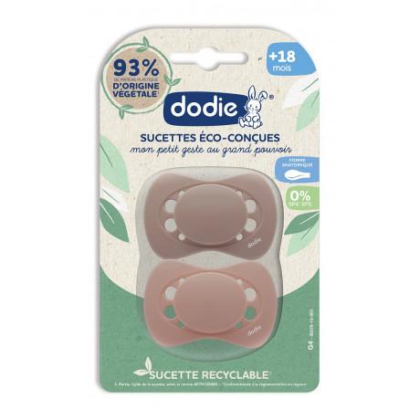 DODIE Sucettes Eco-conçues +18 mois lot de 2