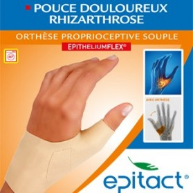EPITACT orthèse proprioceptive souple pouce douloureux rhizarthrose main gauche taille S