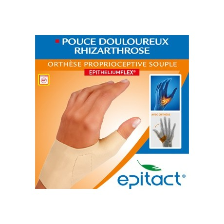 EPITACT orthèse proprioceptive pouce douloureux rhizarthrose main gauche tailleS