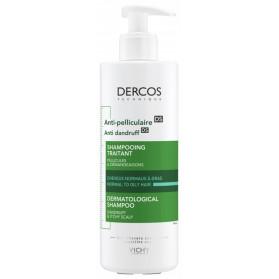 Vichy Dercos Shampoing Traitant Anti-Pelliculaire Cheveux Normaux à Gras 390 ml