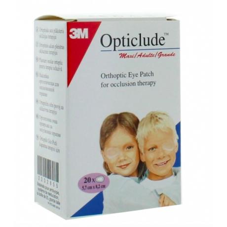 Opticlude 20 pansements orthopédiques maxi chair 8cm x 5,3cm