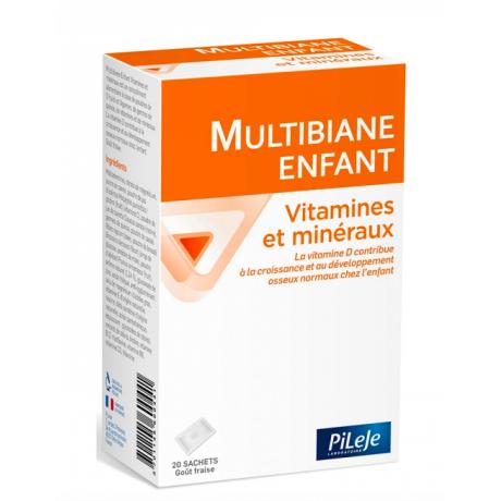 Pileje multibiane enfant vitamines et mineraux 20 sachets