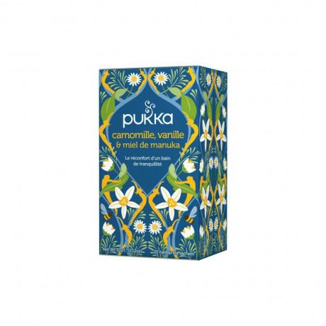 PUKKA Infusion camomille, vanille et miel de manouka 20 sachets de tisane