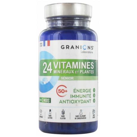 Granions 24 Vitamines Minéraux et Plantes Sénior 90 Comprimés
