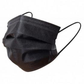 Masque chirurgical 3 plis type IIR noir boite de 50 unités