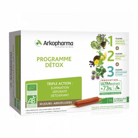 ARKOPHARMA arkofluide programme detox bio 30 ampoules