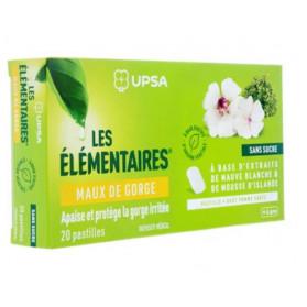 UPSA Les Élémentaires Maux de gorge 20 pastilles