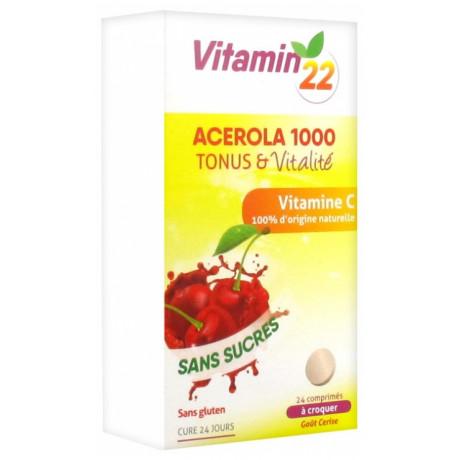 Vitamine 22 Acérola 1000 Vitamine C 24 Comprimés