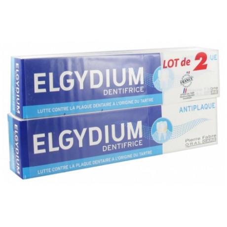 Elgydium Dentifrice Anti Plaque Lot de 2 x 75 ml