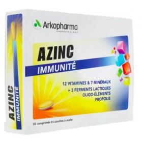 Azinc Immunité 30 comprimés