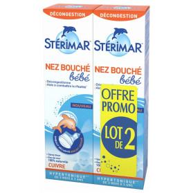 Stérimar Nez Bouché Bébé Lot de 2 x 100 ml
