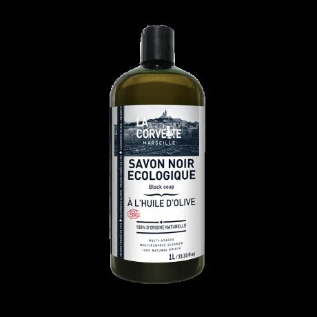 LA CORVETTE Savon noir liquide à l'huile d'Olive 1L