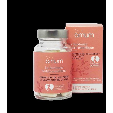 OMUM la surdouée nutricosmétique hydratation et elasticité 60 gélules