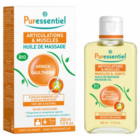 Puressentiel Muscles et Joints Huile de Massage Bio 200 ml