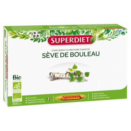 SuperDiet Sève de Bouleau Bio 20 Ampoules