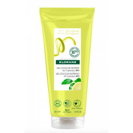 Klorane gel douche parfum zeste d'agrume 200ml