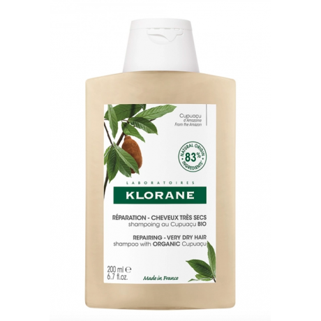 Klorane shampooing réparation au cupuacu BIO 200ml