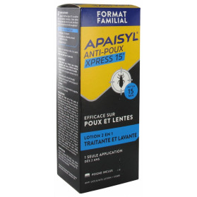 Apaisyl Anti-Poux Xpress 15' Lotion 2en1 200 ml