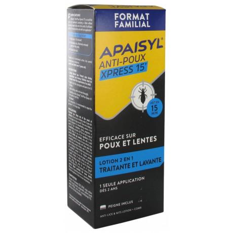 Apaisyl Anti-Poux Xpress 15' Lotion 2en1 200 ml
