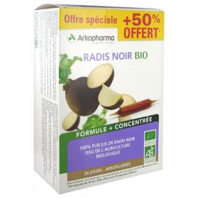 Arkofluides Radis Noir Bio 20 Ampoules + 10 Ampoules Offertes