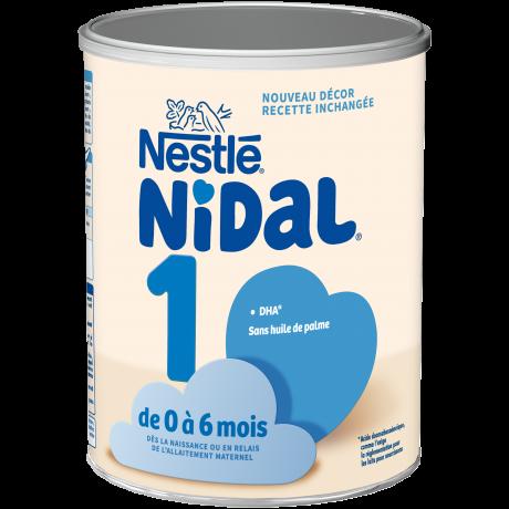 Nestlé Nidal 1 0 à 6 mois boite de 800g
