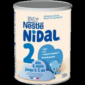 Nestlé Nidal 2 de 6 mois à 1 an boite de 800g