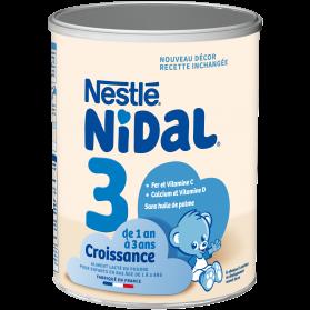 Nestlé Nidal 3 croissance de 1 à 3 ans boite de 800g