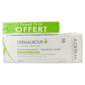 A-derma Dermalibour+ Crème Réparatrice 100 ml + Format 15 ml Offert
