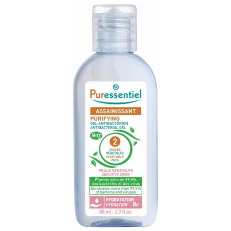 Puressentiel Assainissant Gel Antibactérien aux 2 Huiles Végétales 80 ml