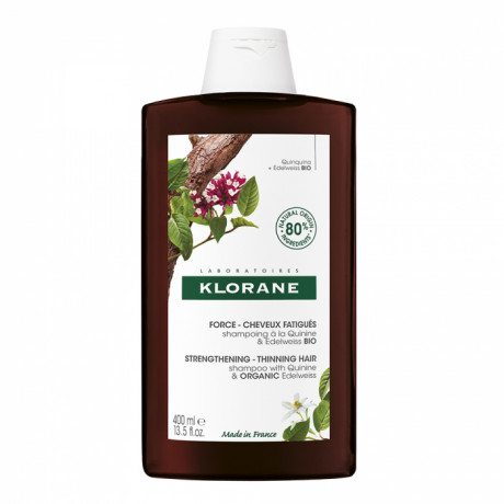 Klorane shampooing à la quinine & Edelweiss BIO 400ml