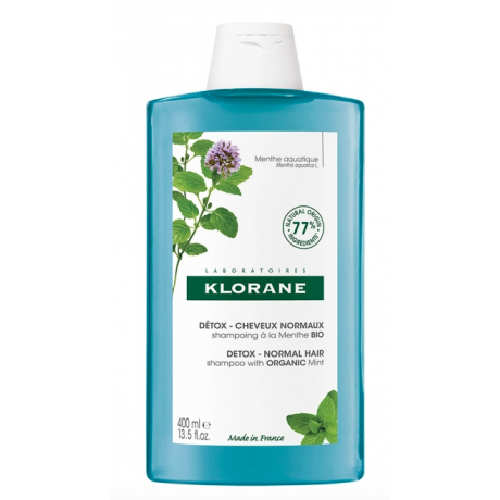 Klorane shampooing detox menthe aquatique bio 400ml