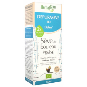 HerbalGem Depuraseve Bio Detox Sève de Bouleau Fraîche 250 ml