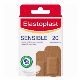 ELASTOPLAST Pansements teinte 2 peaux sensibles x 20
