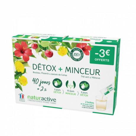 Naturactive detox + minceur fluide 2x20 sticks