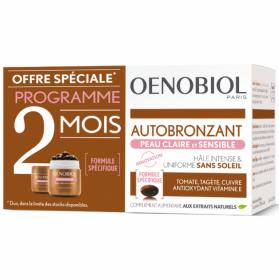 OENOBIOL Autobronzant Peau Claire et Sensible lot de 2x30 Capsules