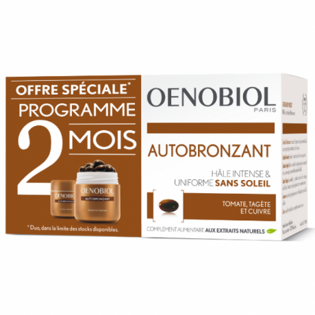 Oenobiol Autobronzant Lot de 2 x 30 Capsules